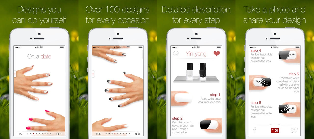 Nail apps for iphone and android for Designing an iphone app